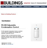 Ventilation: FS-300 Adjustable Condensation Control