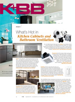 What's Hot in Kitchen Cabinets and Bathroom Ventilation