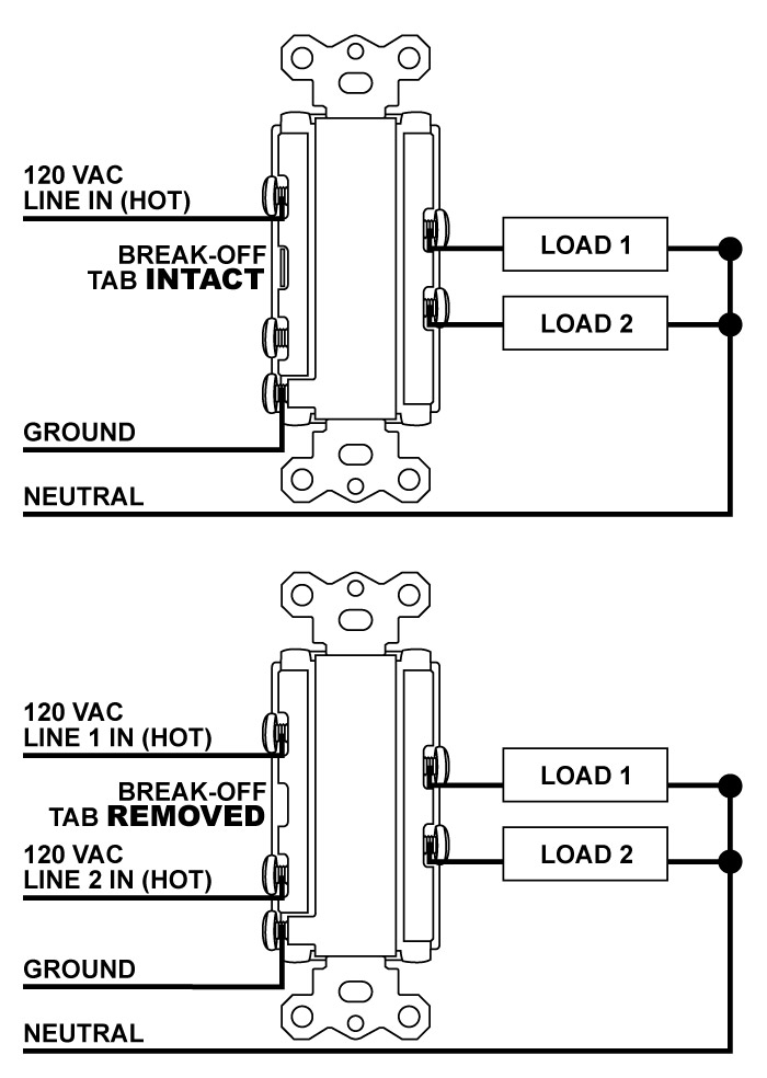 leviton double switch wiring leviton image wiring leviton double pole switch wiring diagram images on leviton double switch wiring